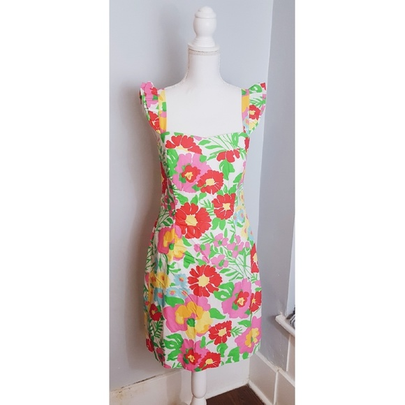 99e147c6a4ae94 Lilly Pulitzer Dresses | Lily Pulitzer Sarafina Big Garden By The ...